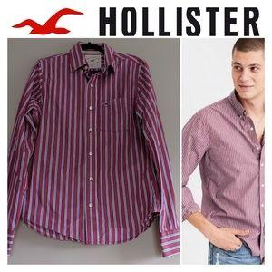 Hollister Men's Button Down Red/blue/white shirt